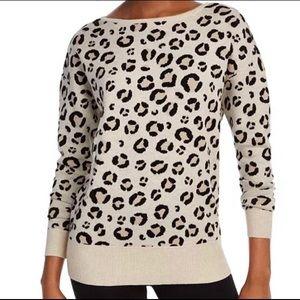 Maison Jules Leopard Cheetah Sweater S